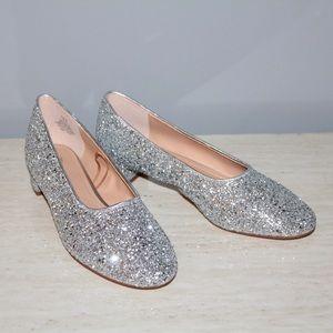H&M Silver Glitter Kitten Heels